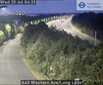 A40 Western Avenue / Long Lane traffic camera.
