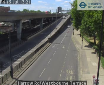 Harrow Road / Westbourne Terrace traffic camera.