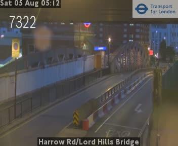 Harrow Road / Lord Hills Bridge traffic camera.