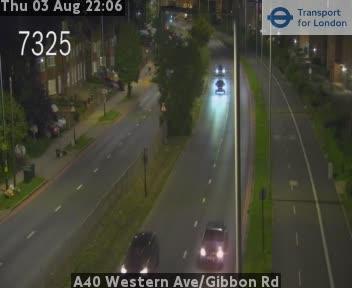A40 Western Avenue / Gibbon Road traffic camera.