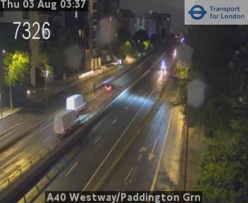 A40 Westway / Paddington Green traffic camera.