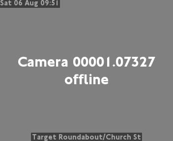Target Roundabout / Church Street traffic camera.