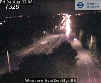 Western Avenue / Swaklys RB traffic camera.