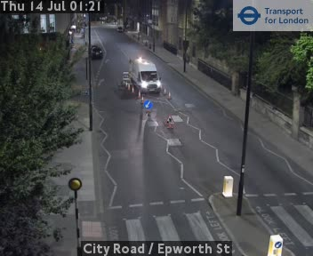 City Road  /  Epworth Street traffic camera.