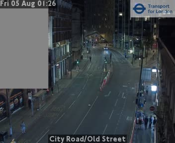 City Road / Old Street traffic camera.