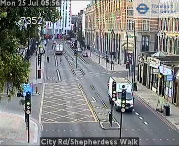 City Road / Shepherdess Walk traffic camera.
