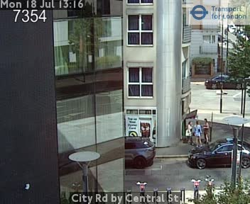 City Road by Central Street traffic camera.