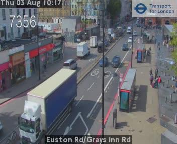 Euston Road / Grays Inn Road traffic camera.