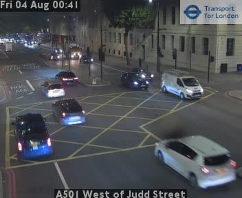 A501 West of Judd Street traffic camera.