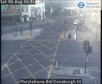 Marylebone Road / Osnaburgh Street traffic camera.