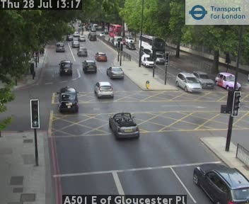 A501 E of Gloucester Place traffic camera.