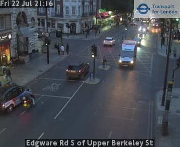 Edgware Road S of Upper Berkeley Street traffic camera.