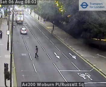 A4200 Woburn Place / Russell Square traffic camera.