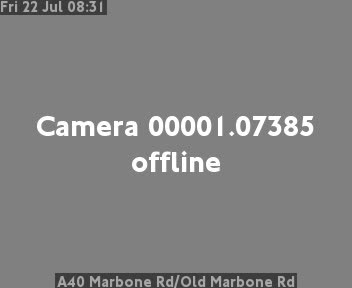 A40 Marbone Road / Old Marbone Road traffic camera.