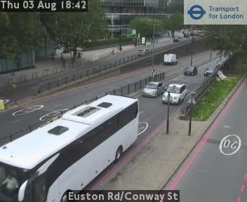 Euston Road / Conway Street traffic camera.