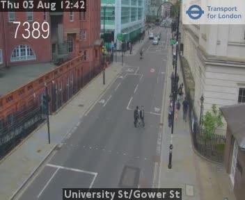 University Street / Gower Street traffic camera.