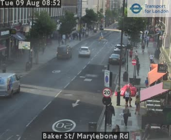 London Baker Street Marylebone Road Live Traffic Weather Jam Web Cam