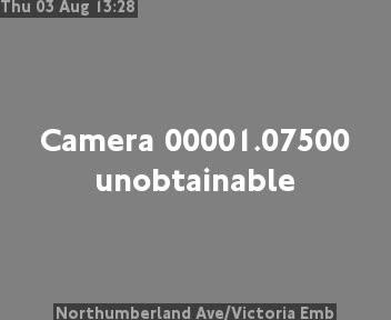 Northumberland Avenue / Victoria Embankment traffic camera.