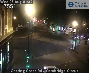Charing Cross Road  /  Cambridge Circus traffic camera.