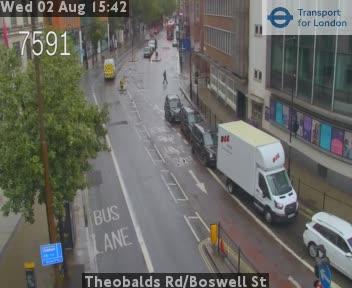 Theobalds Road / Boswell Street traffic camera.