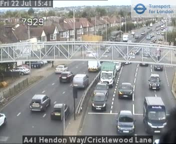 A41 Hendon Way / Cricklewood Lane traffic camera.
