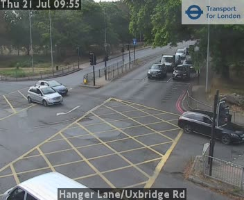 Hanger Lane / Uxbridge Road traffic camera.
