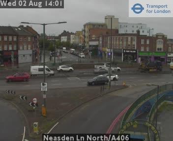 Neasden Lane North / A406 traffic camera.