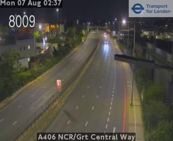 A406 North Circular Road / Great Central Way traffic camera.