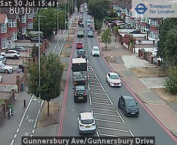 Gunnersbury Avenue / Gunnersbury Drive traffic camera.