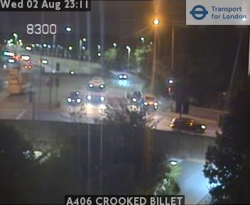 A406 CROOKED BILLET traffic camera.