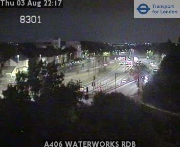 A406 Waterworks Roundabout traffic camera.