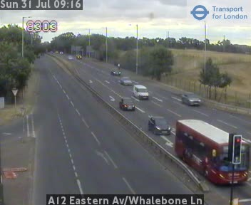 A12 Eastern Avenue / Whalebone Lane traffic camera.
