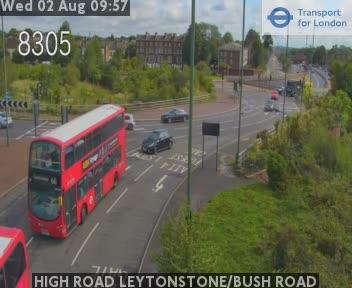 HIGH ROAD Leytonstone Eastbound / Bush Road traffic camera.