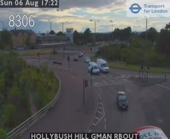 Hollybush Hill Green Man Roundabout traffic camera.