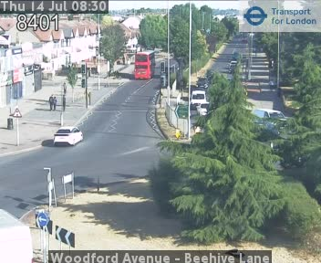 Woodford Avenue - Beehive Lane traffic camera.