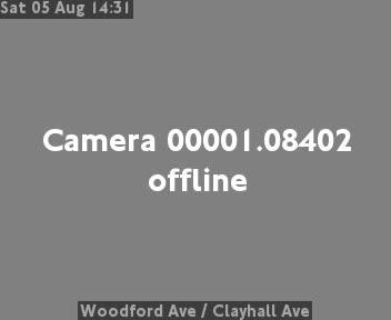Woodford Avenue  /  Clayhall Avenue traffic camera.