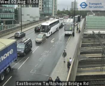 Eastbourne Terrace / Bishops Bridge Road traffic camera.