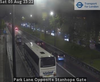 Park Lane Opposite Stanhope Gate traffic camera.