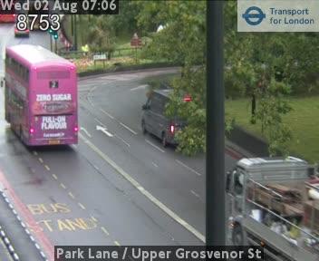 Park Lane  /  Upper Grosvenor Street traffic camera.