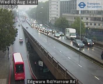 Edgware Road / Harrow Road traffic camera.