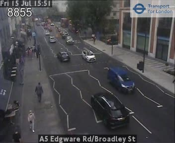 A5 Edgware Road / Broadley Street traffic camera.