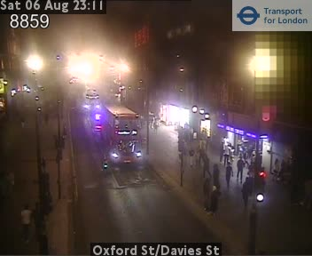 London Oxford Street Davies Street Live London Jam Traffic Weather Web Cam