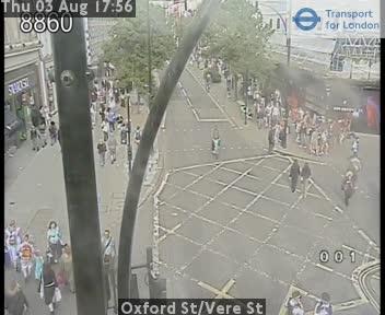Oxford Street / Vere Street traffic camera.