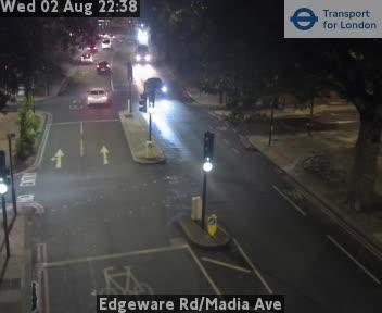 Edgeware Road / Madia Avenue traffic camera.