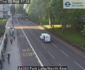 A4202 Park Lane / North Row traffic camera.