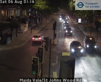Maida Vale / St Johns Wood Road traffic camera.