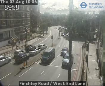 Finchley Road  /  West End Lane traffic camera.