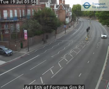 A41 South of Fortune Green Road traffic camera.