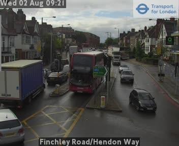 Finchley Road / Hendon Way traffic camera.