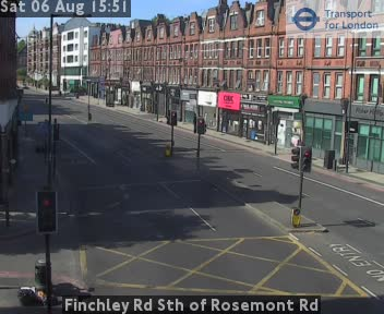 Finchley Road South of Rosemont Road traffic camera.